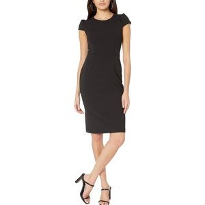 Betsey Johnson Women's Black Puff Sleeve Dress.
